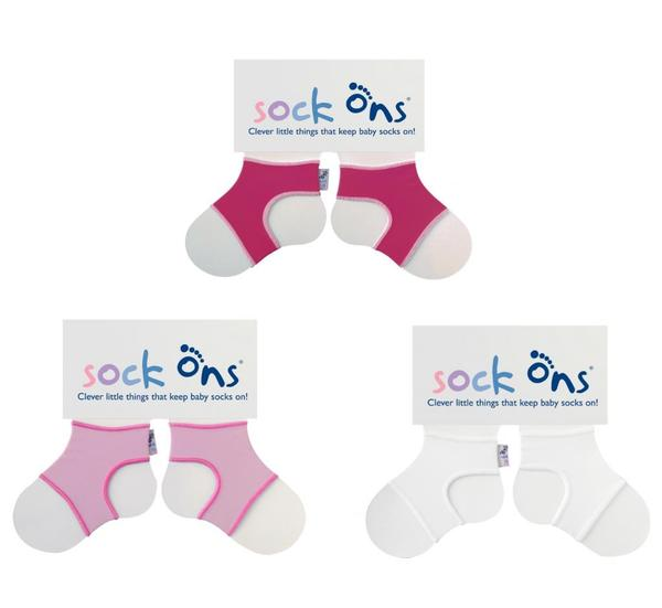 Sock Ons Girl's Classic Large (6-12 Months) Sock Accessories (Pack of 3)