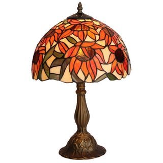 Amora Lighting Tiffany Style Sunflower Table Lamp