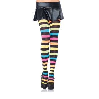 Leg Avenue Women's Neon Rainbow Acrylic Tights