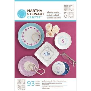 Martha Stewart Crafts Glass Adhesive Stencils-Classic Serif