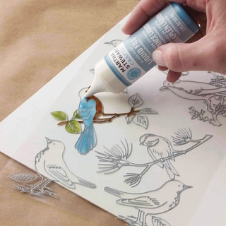 Martha Stewart Crafts Glass Paintable Cling Sheet-Woodland Bird