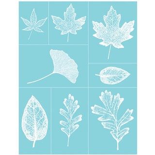 "Martha Stewart Crafts Glass Silkscreen 8-1/2""X11""-Leaves"