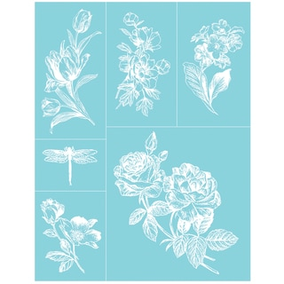 "Martha Stewart Crafts Glass Silkscreen 8-1/2""X11""-English Garden"