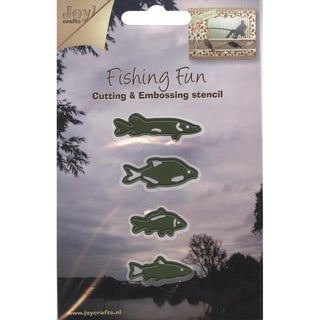 Joy! Craft Cut & Emboss Dies-Fishing Fun/Fish, 4/Pkg