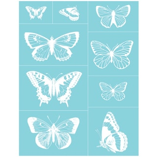 "Martha Stewart Crafts Glass Silkscreen 8-1/2""X11""-Butterflies"