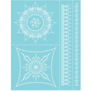 "Martha Stewart Crafts Glass Silkscreen 8-1/2""X11""-Scroll & Swirl"