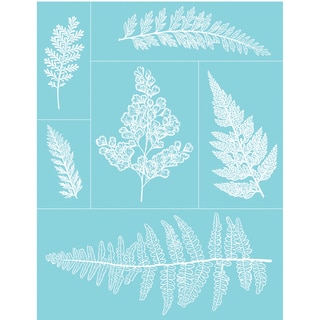 "Martha Stewart Crafts Glass Silkscreen 8-1/2""X11""-Ferns"