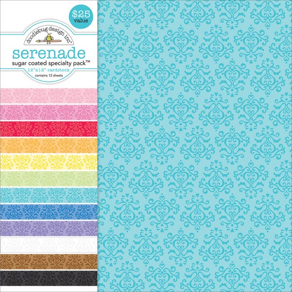"Specialty Cardstock Value Pack 12""X12""-Sugar Coated Serenade"