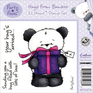 """Party Paws Ezmount Stamps 4.75""""X4.75""""-Hugs From Bamboo"""