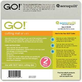 "GO! Cutting Mat 6""x6"" 2/Pkg-"