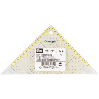 Omnigrid Metric Right Triangle Quilter's Ruler-For 1/2 Square Up To 15cm