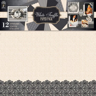 "Hot Off The Press Paper Pack 12""X12"" 12/Sheets-White Truffle"
