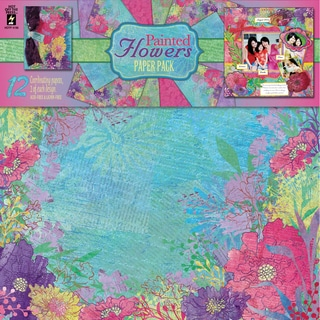 """Hot Off The Press Paper Pack 12""""X12"""" 12/Sheets-Painted Flowers"""