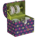 "Creative Options Treasure Trunk 6.875""X5""X7.875""-Magenta/Green/Purple"