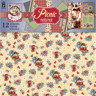 """Hot Off The Press Paper Pack 12""""X12"""" 12/Sheets-Picnic"""