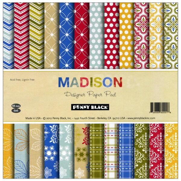 "Penny Black Paper Pad 6""X6""-Madison"