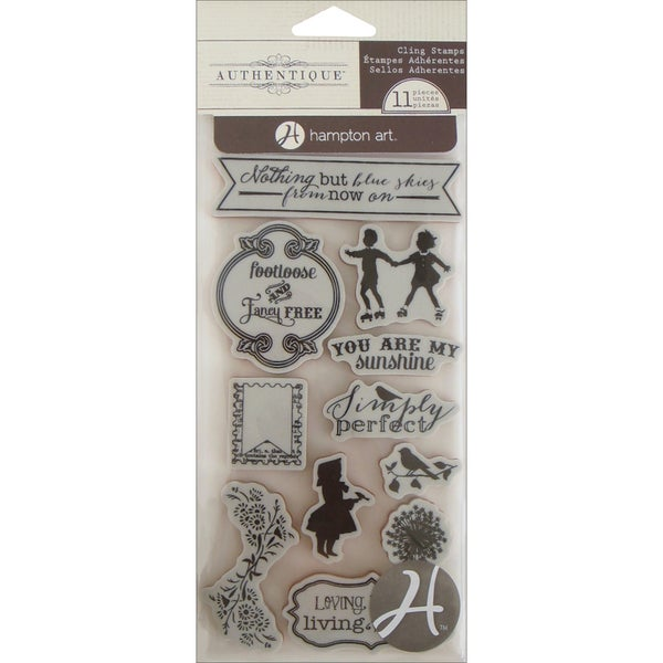 "Authentique Cling Stamp 4""X4.75""-Footloose"