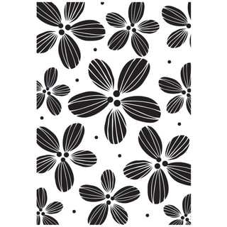 "Mounted Rubber Stamp 2.5""X3.5""-Daisy Background"