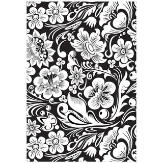 """Mounted Rubber Stamp 3.5x5""""-Flower Power"""