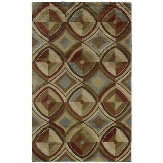 American Rug Craftsmen Shaggy Vibes Golden Gate Coco Butter Rug (10'x14')