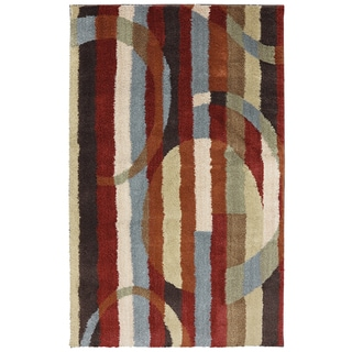 American Rug Craftsmen Shaggy Vibes River Street Moraccan Red Rug (10'x14')