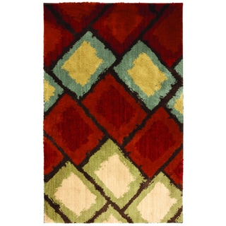 American Rug Craftsmen Shaggy Vibes Abercorn Moraccan Red Rug (10'x14')