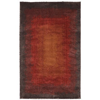 American Rug Craftsmen Shaggy Vibes Central Park Moraccan Red Rug (8' x 11')