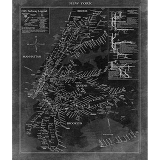 'New York Map' Unframed Print
