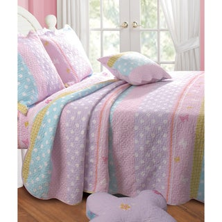 Polka Dot Stripe Bonus 5-piece Quilt Set