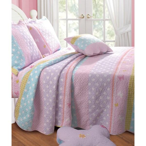 Greenland Home Fashions Polka Dot Stripe Bonus 5-piece Quilt Set