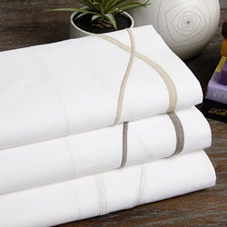 Marc Thee Strands Collection 350 Thread Count Twill Weave Embroidered Sheets