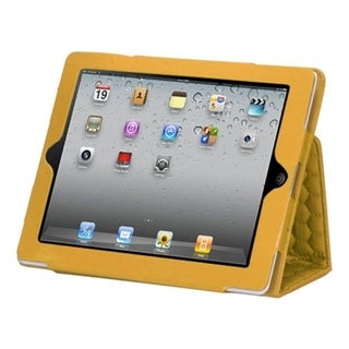 BasAcc Luxury Yellow Hexagon Quilted MyJacket Case for Apple iPad 2/ 4