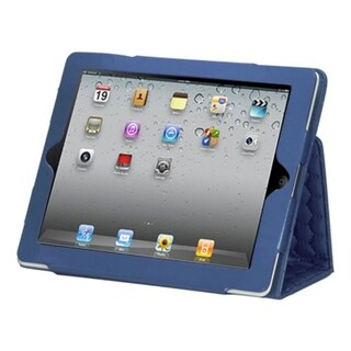 BasAcc Luxury Dark Blue Quilted MyJacket Case for Apple iPad 2/ 4