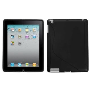 BasAcc Black S-Shape Candy Skin Case for Apple iPad 2