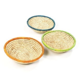 Set of 3 Mini Date Leaf Nesting Baskets (Bangladesh)
