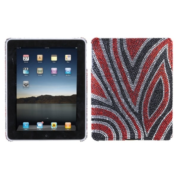 INSTEN Jungle Fever Diamante Tablet Case Cover for Apple iPad