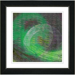 Studio Works Modern 'Rising Star - Green' Framed Art Print