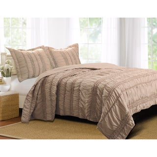 Tiana Country Taupe 3-piece Quilt Set