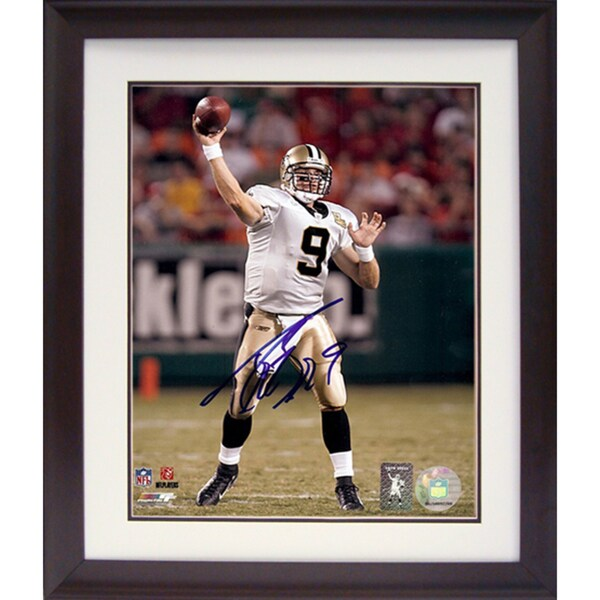 Drew Brees 11x14 Autographed Deluxe Frame 11296304