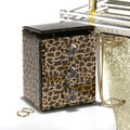 Leopard 3-drawer Mirrored Jewelry Box