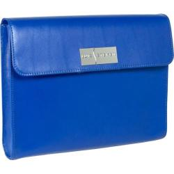 Women's Luis Steven Gisella iPad Clutch Wallet C-3100 Blue Leather