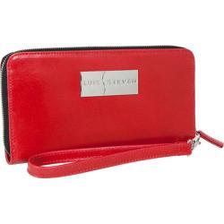 Women's Luis Steven Larisa Zipper Wallet C-3025 Red Leather