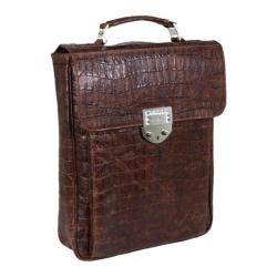 Luis Steven Medium Laptop Pack in Gator R-3500A Brown Leather