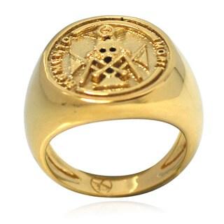 De Buman 14k Gold Overlay Mometo Mori Ring