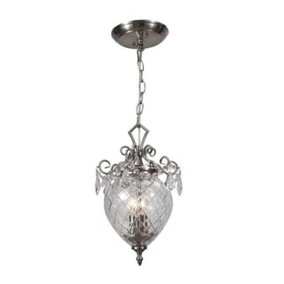 Crystorama Avery Collection 2-light Polished Chrome Pendant