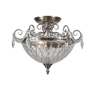 Avery 3-light Polished Chrome Semi-flush Mount