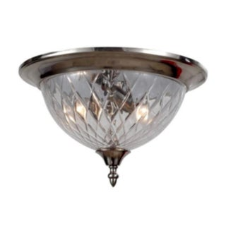 Avery 3-light Polished Chrome Flush Mount