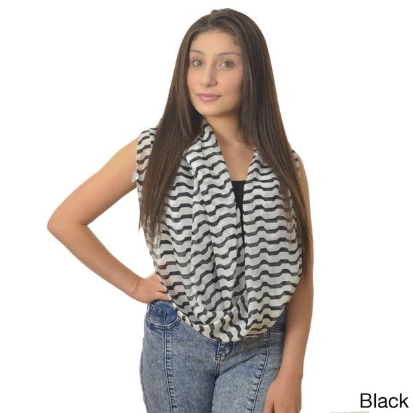 LA77 Striped Loop Scarf