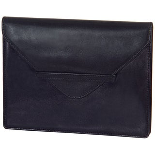 Alicia Klein Black Leather Envelope
