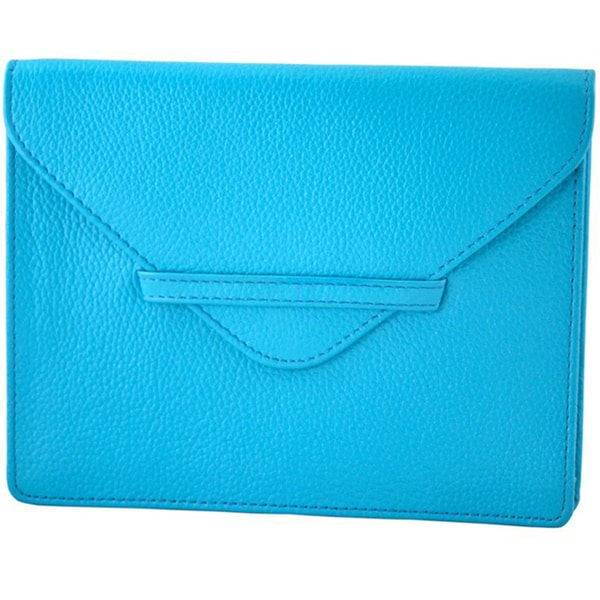 Alicia Klein Turquoise Leather Purse Envelope